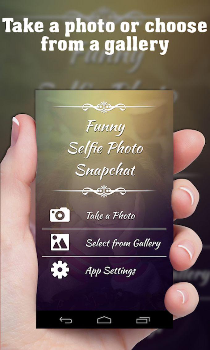Funny Selfie Photo Snapchat