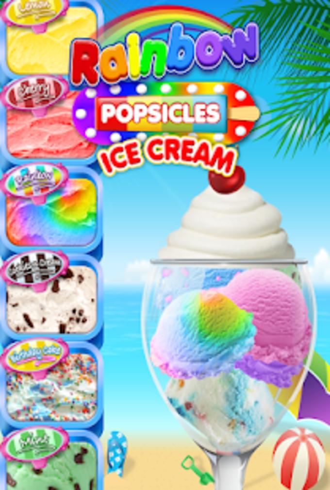 Rainbow Ice Cream  Popsicles