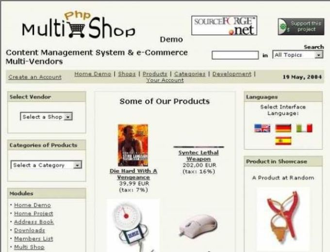 Php-MultiShop