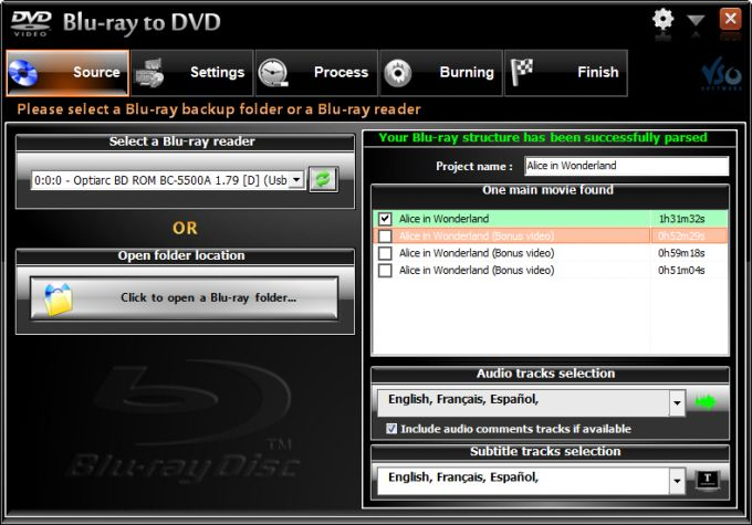 VSO Blu-ray to DVD Converter