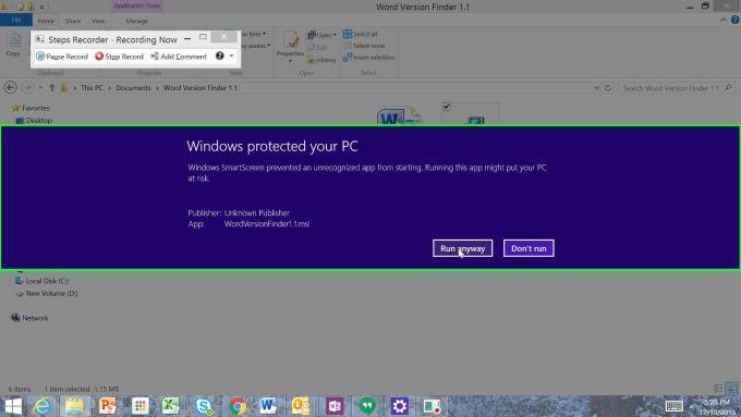 Microsoft Word file Version Finder