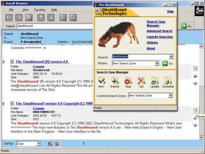 The Sleuthhound! Desktop Search
