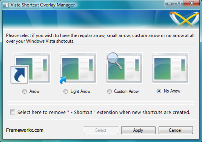 Vista Shortcut Manager