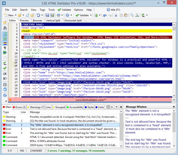 CSE HTML Validator Standard