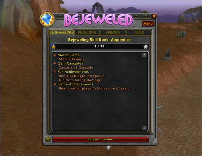 Bejeweled Add-on for WoW