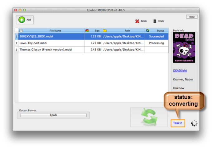 Mobi to ePub Converter for Mac