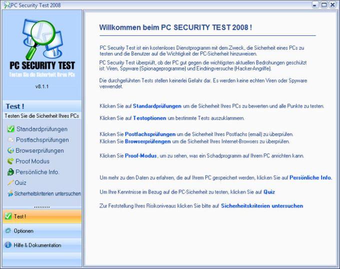 PC Security Test