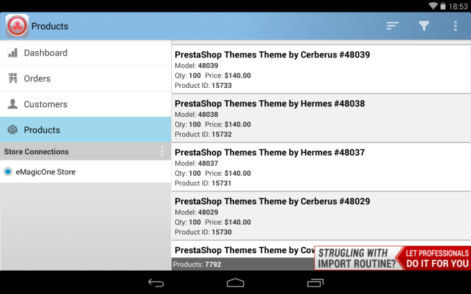 Magento Mobile Assistant