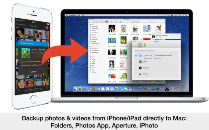 PhotoSync transfer, backup and share your photos and videos