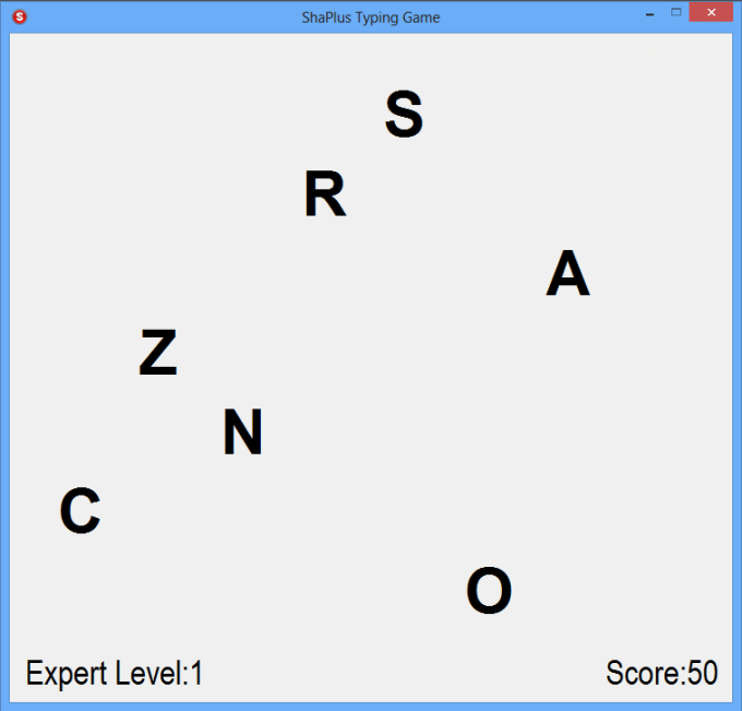 ShaPlus Typing Game