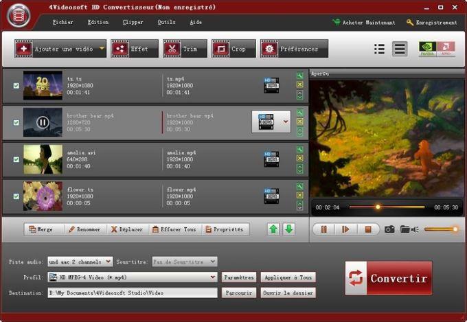 4Videosoft HD Convertisseur