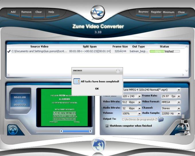 A-Z Zune Video Converter