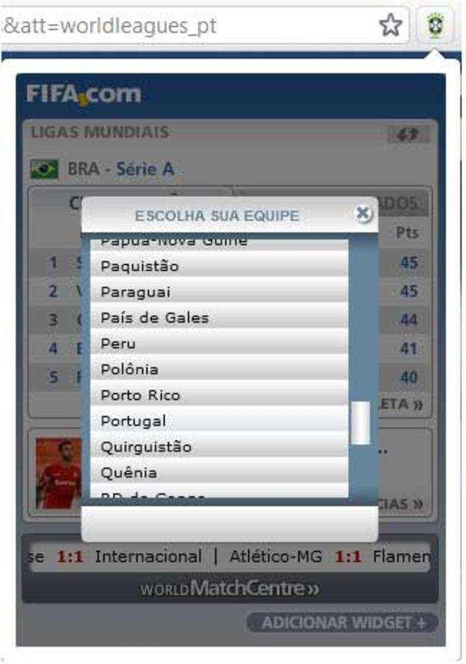 Tabela do Brasileirão