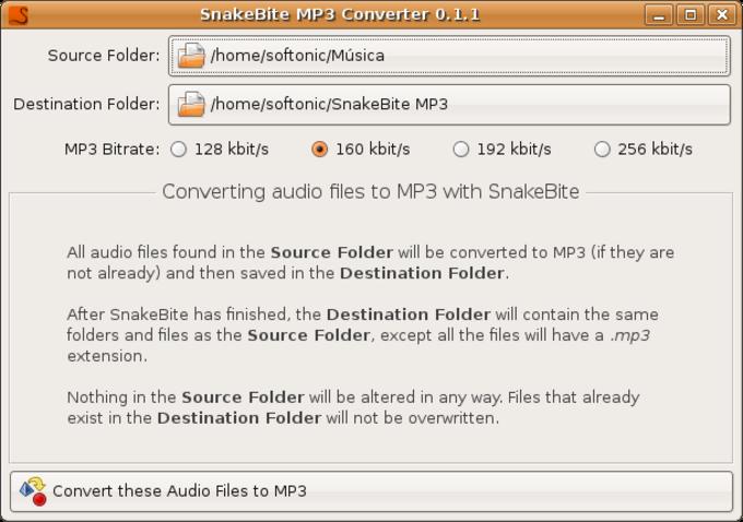 SnakeBite MP3 Converter