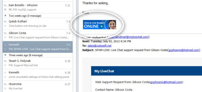 My Live Chat Software