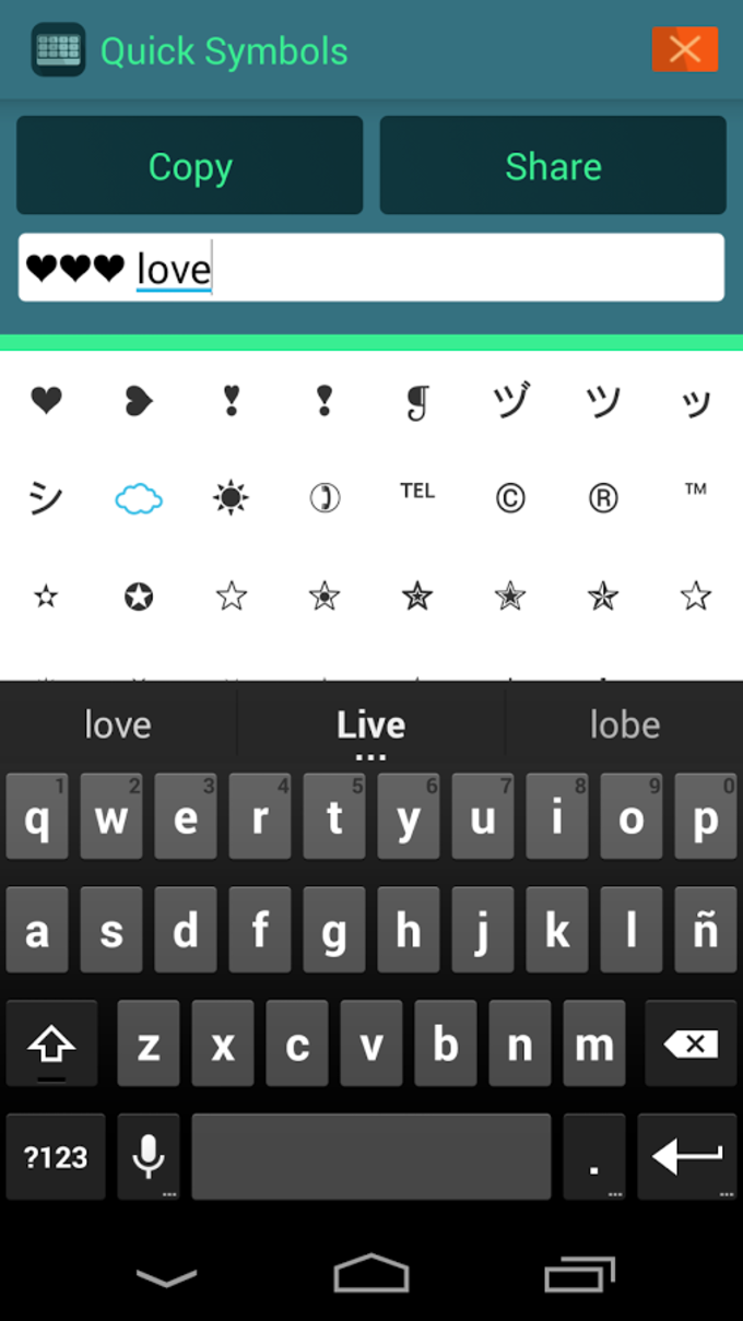 Simbolos texto ASCII