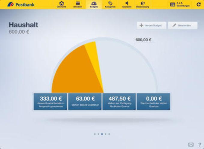 Postbank Finanzassistent für iPad