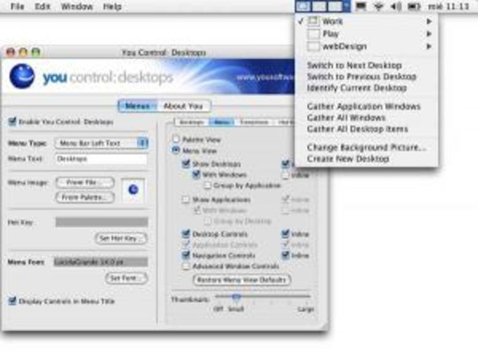 You Control: Desktop