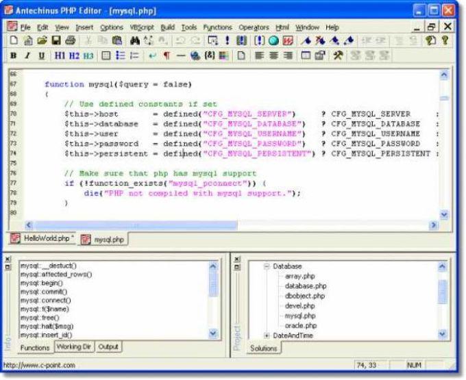 Antechinus PHP Editor