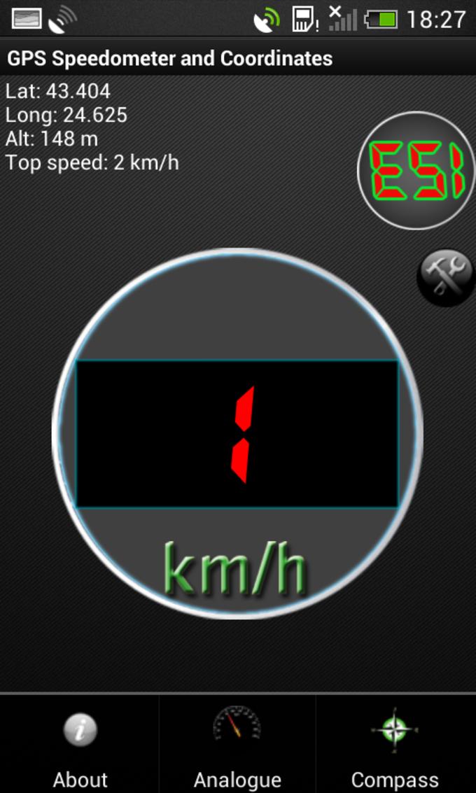 GPS Velocímetro en kph o mph