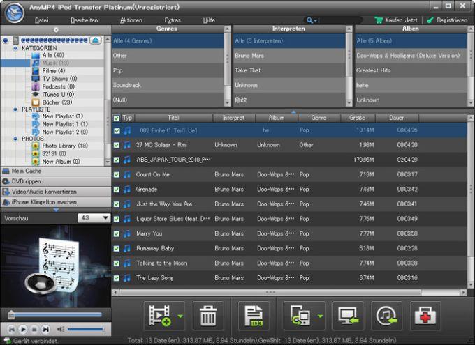 AnyMP4 iPod Transfer Platinum