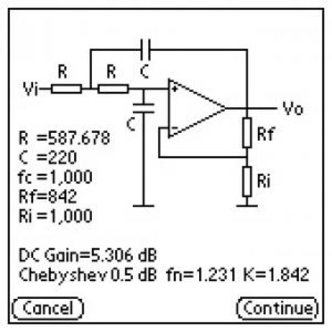 Active lowpass filter