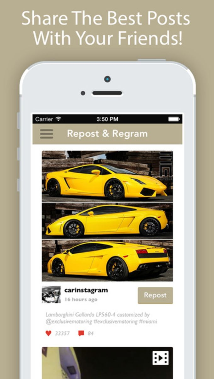 Repost It! for Instagram - Regram Videos Whiz App
