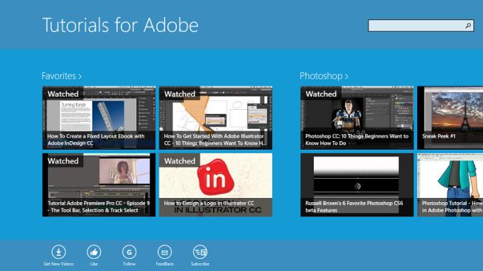 Tutorials for Adobe
