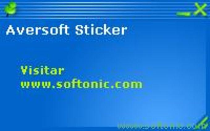 Aversoft Sticker