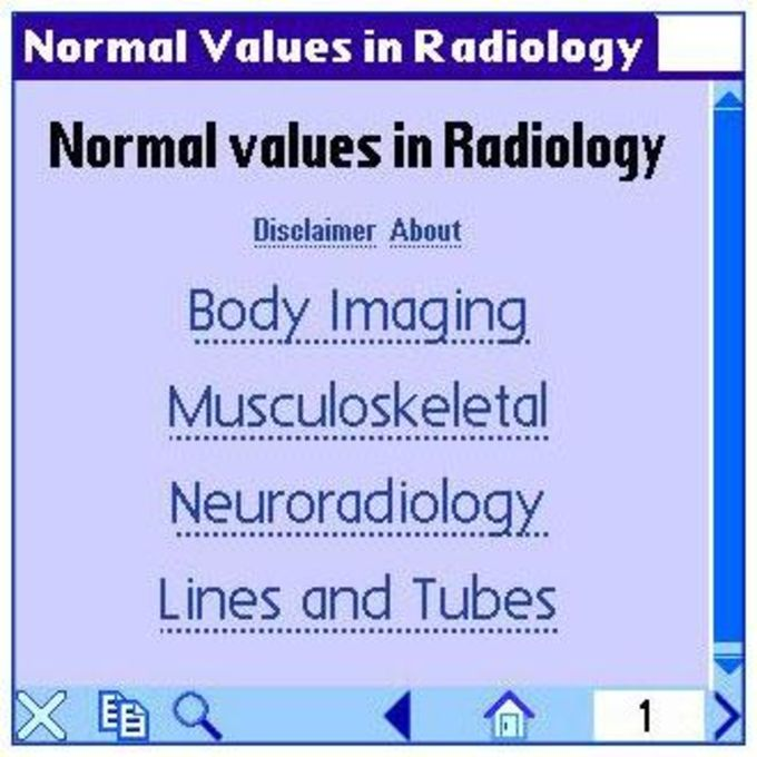Normal Values in Radiology