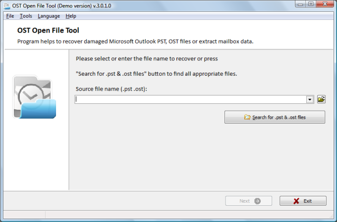 OST Open File Tool