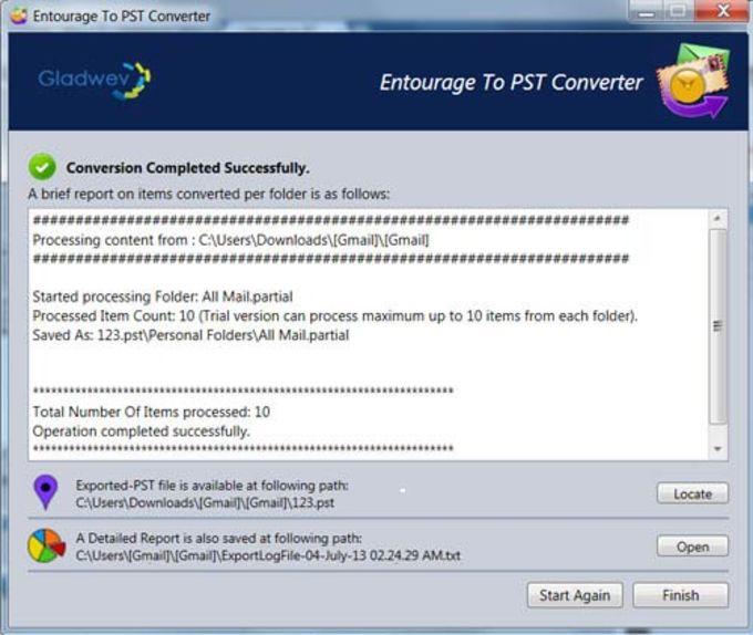 Entourage to PST Converter