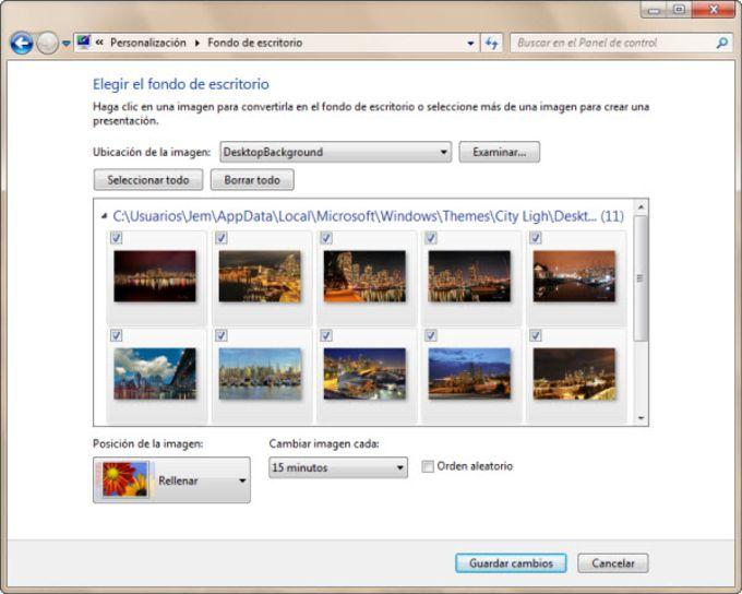 City Lights Thème pour Windows 7