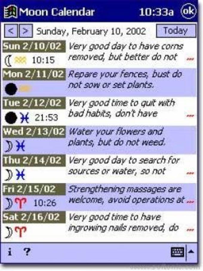 Moon Calendar CE