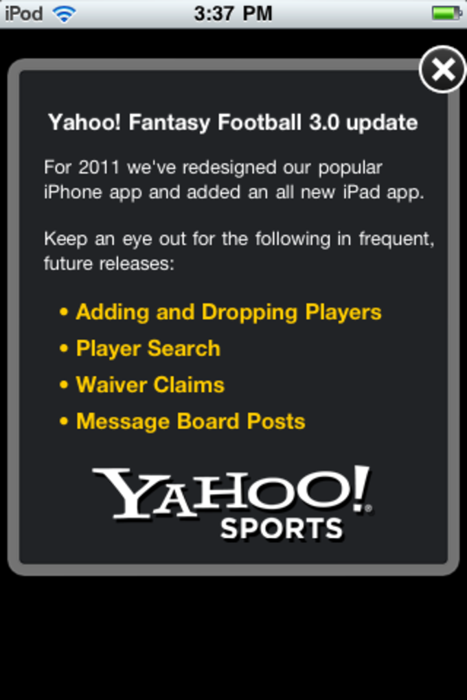 Yahoo! Fantasy Football '12