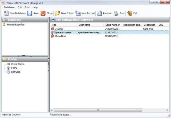 Yamicsoft Password Storage