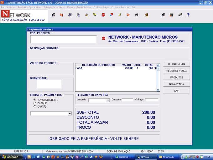 MANUTENÇÃO FÁCIL  NETWORK