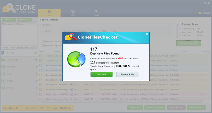 Clone Files Checker