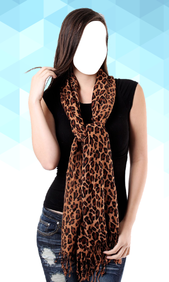 Women Scarf Photo Suit