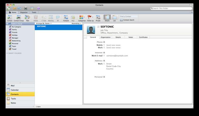 Microsoft Outlook 2011