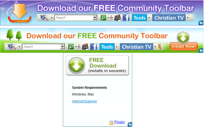 Bible Toolbar for Internet Explorer