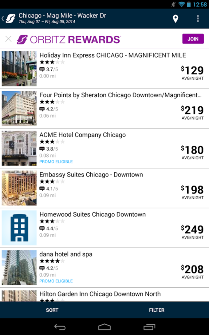 Orbitz Flights, Hotels, Cars