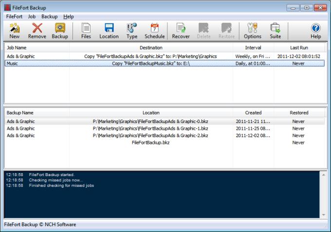 FileFort Free File Backup Software 302