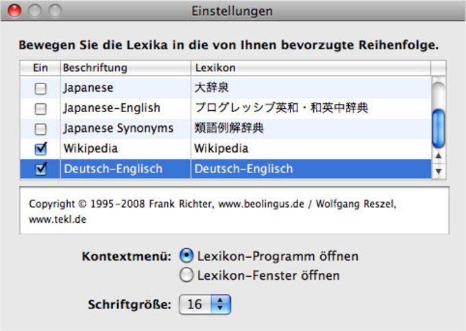 BeoLingus Deutsch-Englisch