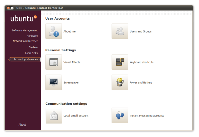 Ubuntu Control Center
