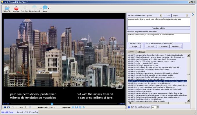 Lingual Media Player
