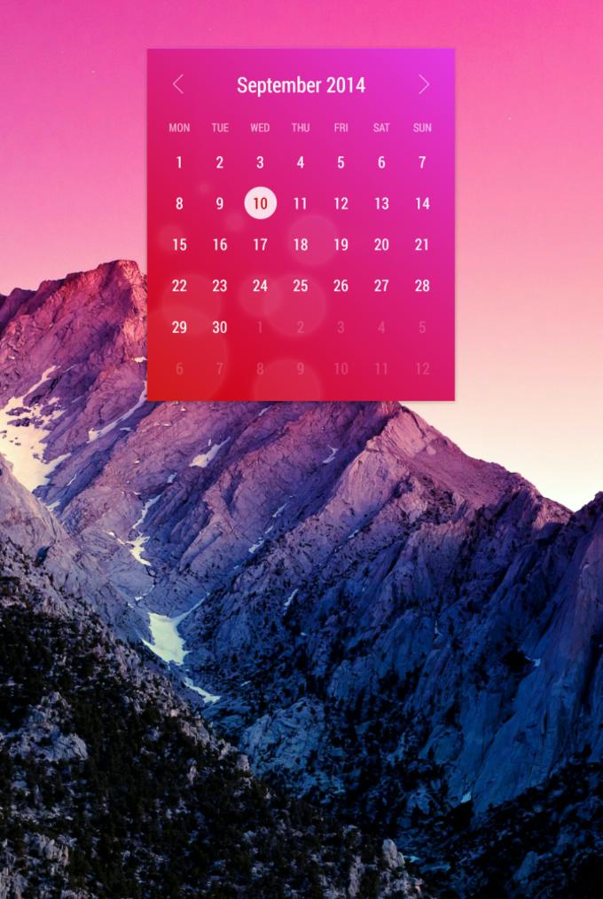 Month: The Calendar Widget