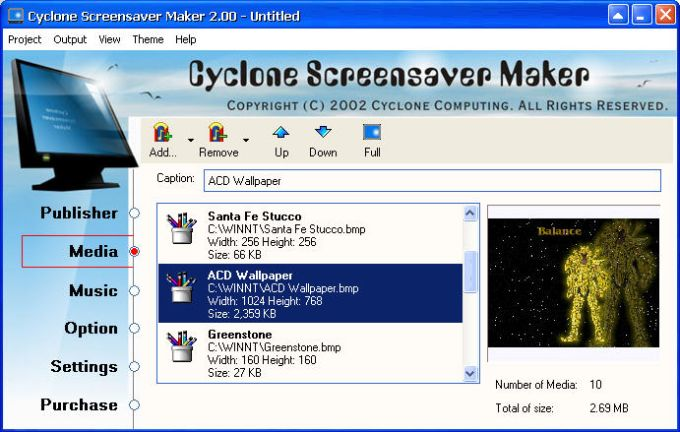 Cyclone Screensaver Maker