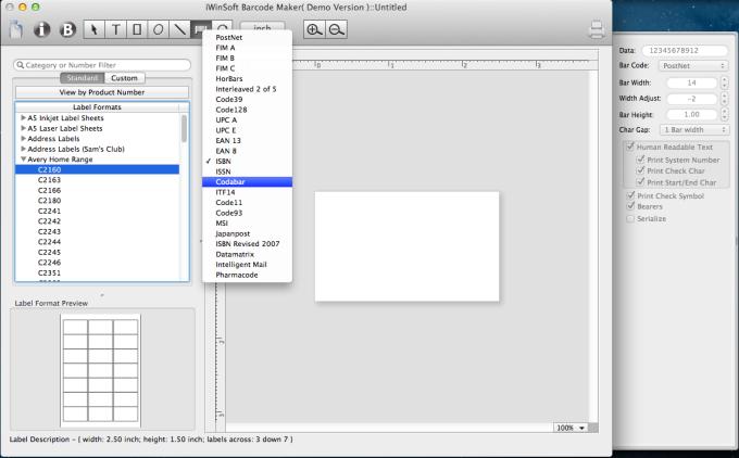 iWinSoft Barcode Maker for Mac