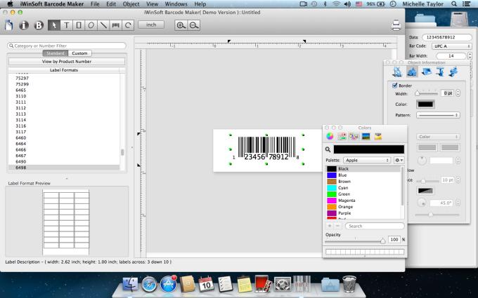 iWinSoft Barcodeersteller für Mac
